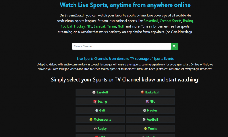 Top 10  Stream2Watch and it's alternative to Watch Online Sports